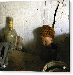 Old Doll In The Attic Acrylic Print by Draia Coralia