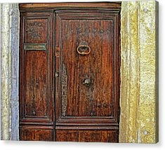 Acrylic Print featuring the photograph Old Door Study Provence France by Dave Mills