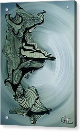 Old Drawing Called Serenity 2   Acrylic Print by Colette V Hera  Guggenheim