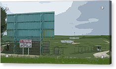 Old Drive In Acrylic Print by Craig Carlson