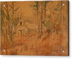 Old Farm Acrylic Print by Carman Turner