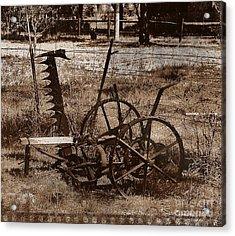 Acrylic Print featuring the photograph Old Farm Equipment by Blair Stuart