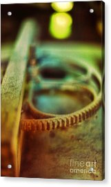 Old Farm Equipment Acrylic Print by HD Connelly
