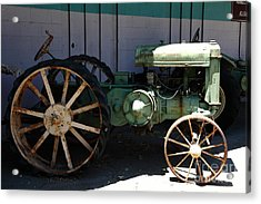 Old Farm Tractor . 5d16619 Acrylic Print by Wingsdomain Art and Photography