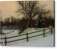 Acrylic Print featuring the photograph Old Fashiion Winter by Edward Peterson
