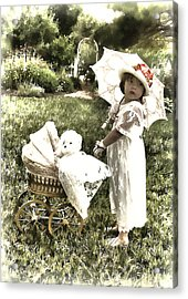 Old Fashion Girl Acrylic Print by Trudy Wilkerson