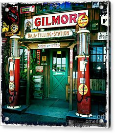 Old Fashioned Filling Station Acrylic Print by Nina Prommer