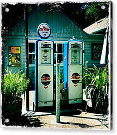 Acrylic Print featuring the photograph Old Fashioned Gas Station by Nina Prommer