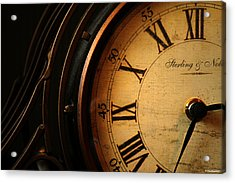 Old Fashioned Mantle Clock Acrylic Print