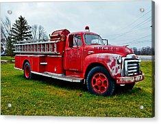Old Firetruck Acrylic Print by Brenda Becker