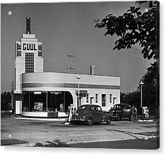 Old Gasoline Station Acrylic Print by George Marks
