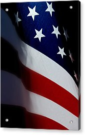 Old Glory - The Flag Of A Proud Country Acrylic Print by Steven Milner
