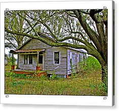 Old Gray House Acrylic Print by Judi Bagwell