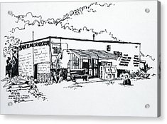 Old Grocery Store - W. Delray Beach Florida Acrylic Print by Robert Birkenes