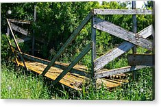 Acrylic Print featuring the photograph Old Hayrack by Jim Sauchyn