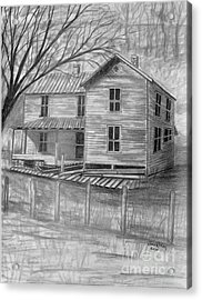 Old Homeplace Acrylic Print by Julie Brugh Riffey
