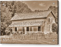 Old House In The Cove Acrylic Print by Barry Jones