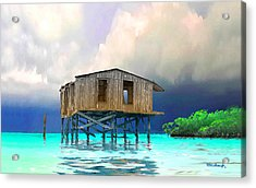 Old House Near The Storm Filtered Acrylic Print