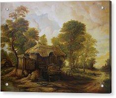 Old Hut  Acrylic Print by Dan Scurtu