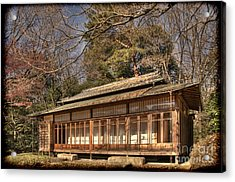 Old Japanese House In Autum Acrylic Print