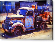 Old Junk Truck Acrylic Print by Garry Gay