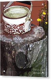Old Kettle Acrylic Print by Deborah Johnson