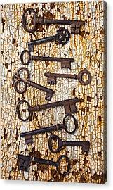 Old Keys Acrylic Print by Garry Gay