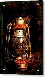 Old Lantern Acrylic Print by Li   van Saathoff