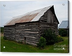 Acrylic Print featuring the photograph Old Log Building by Barbara McMahon