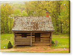 Old Log Cabin Acrylic Print by J Jaiam