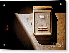 Old Mailbox With Doorbell Acrylic Print by Silvia Ganora