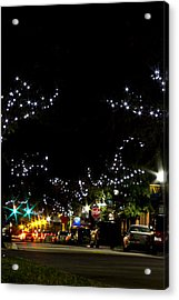 Old Main Street In December Acrylic Print by Nicholas Evans