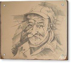 Old Man Acrylic Print by Curt Sandu Viorel