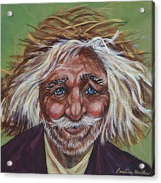 Acrylic Print featuring the painting Old Man by Pauline  Kretler