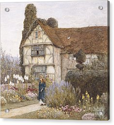 Old Manor House Acrylic Print by Helen Allingham