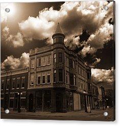 Old Menominee Corner Store Building Acrylic Print