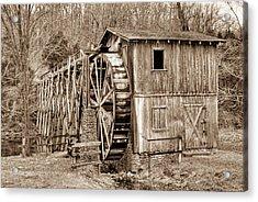 Old Mill In Sepia Acrylic Print by Douglas Barnett