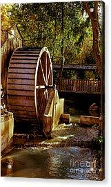 Old Mill Park Wheel Acrylic Print by Robert Bales