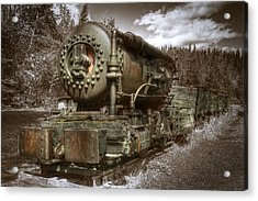 Old Mine Train Banff Acrylic Print
