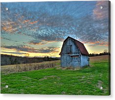 Acrylic Print featuring the photograph Old Mines Barn by William Fields