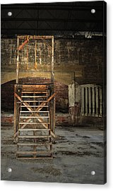 Acrylic Print featuring the photograph Old Montana Prison by Fran Riley