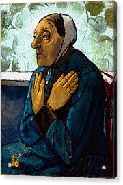 Old Peasant Woman Acrylic Print by Paula Modersohn-Becker
