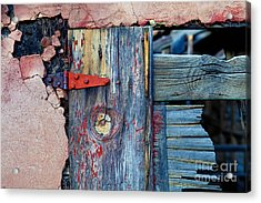 Old Pink Chicken Coop Acrylic Print