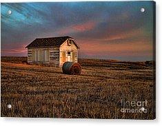 Old Prairie School At Sunrise Acrylic Print
