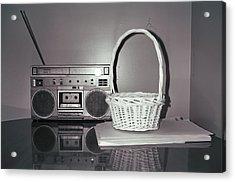 Old Radio And Easter Basket Acrylic Print