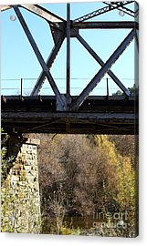 Old Railroad Bridge At Union City Limits Near Historic Niles District In California . 7d10743 Acrylic Print by Wingsdomain Art and Photography