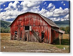 Acrylic Print featuring the photograph Old Red Barn by Renee Hardison