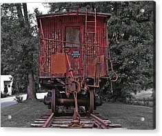 Old Red Train Acrylic Print