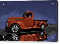 Old Red Truck Acrylic Print by Judy Deist