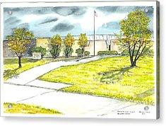Old Riverside High School Acrylic Print